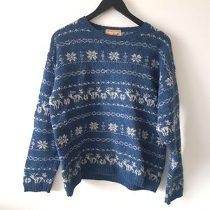 WOOLRICH Vintage Fair Isle Wool Pullover Sweater